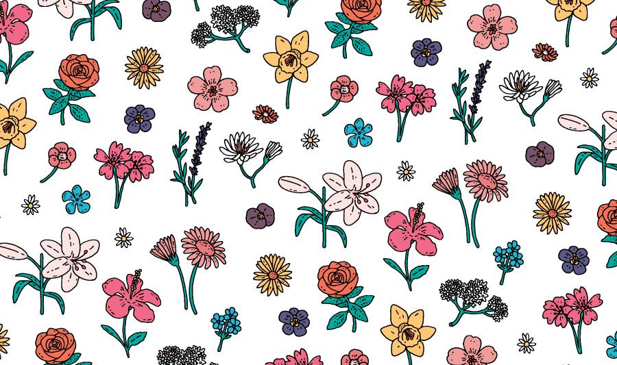Pavilion Flower Pattern