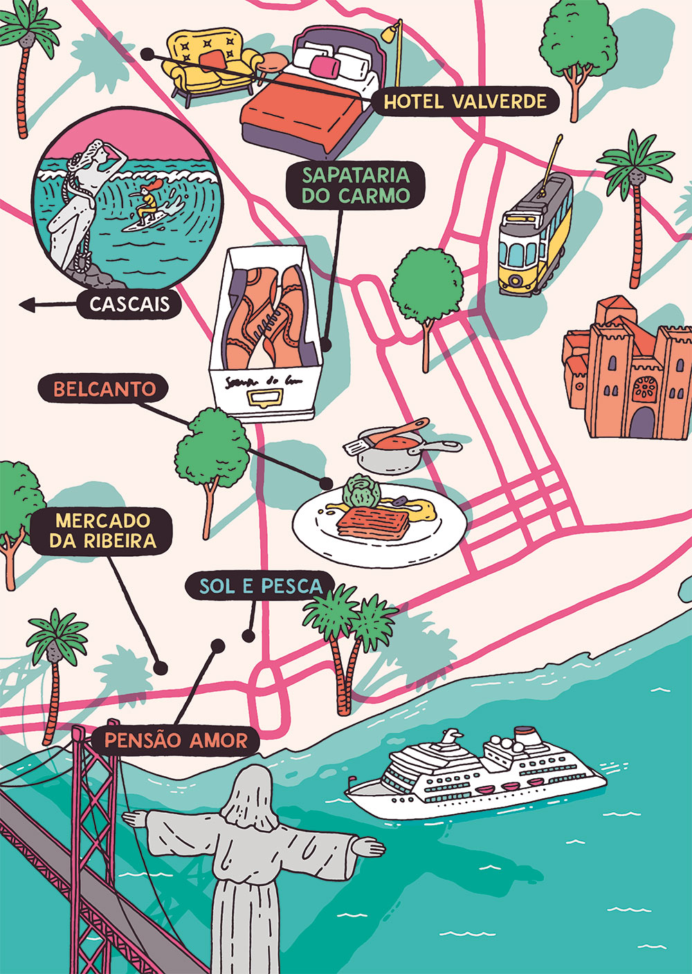 Esquire Travel Lisbon Map