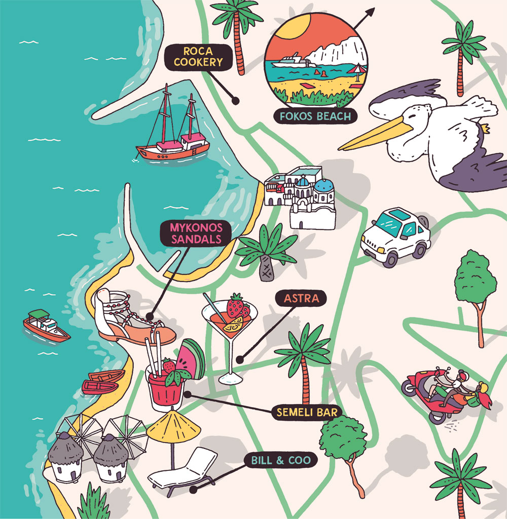 Esquire Travel Mykonos Map