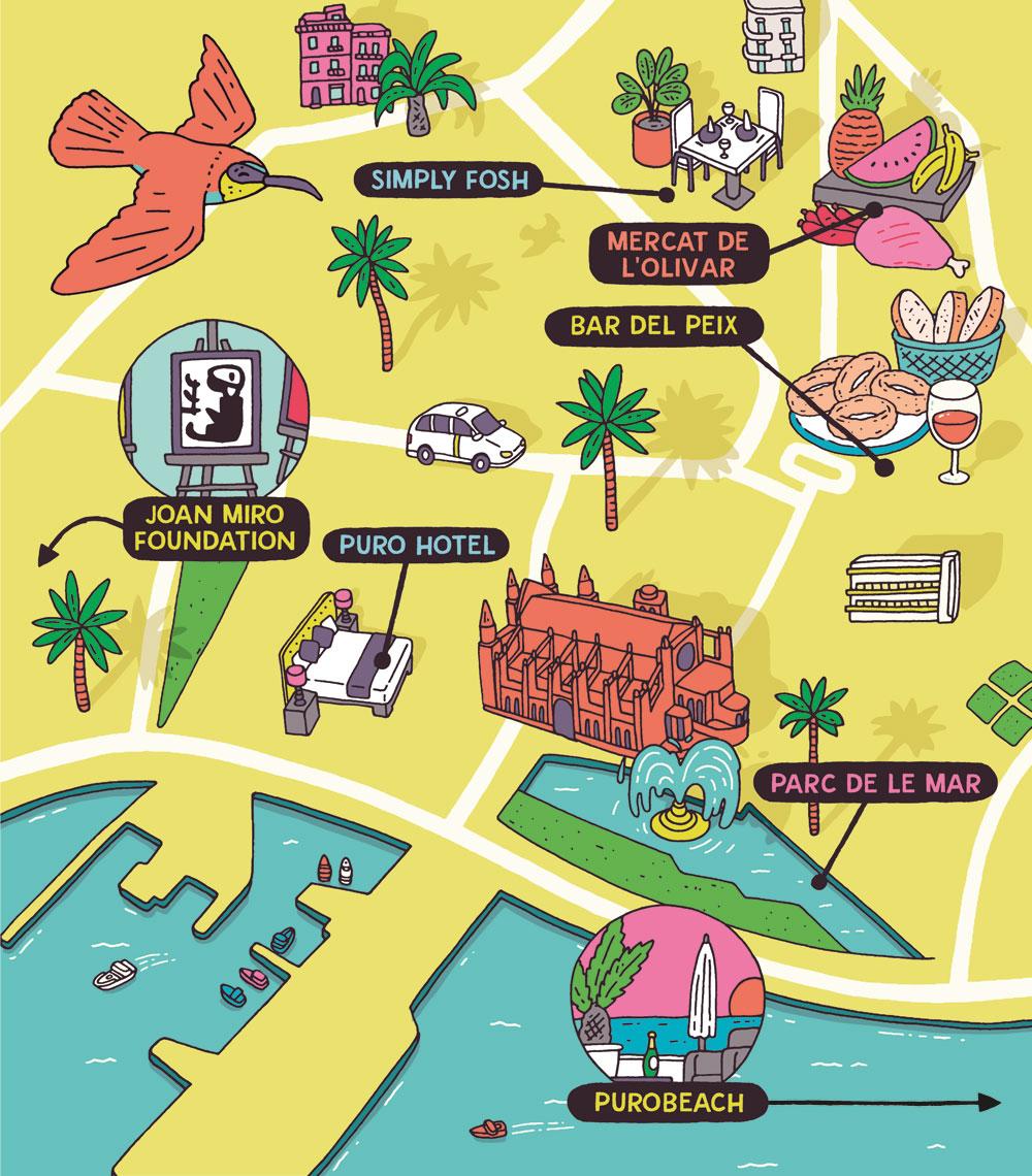 Esquire Travel Palma Map