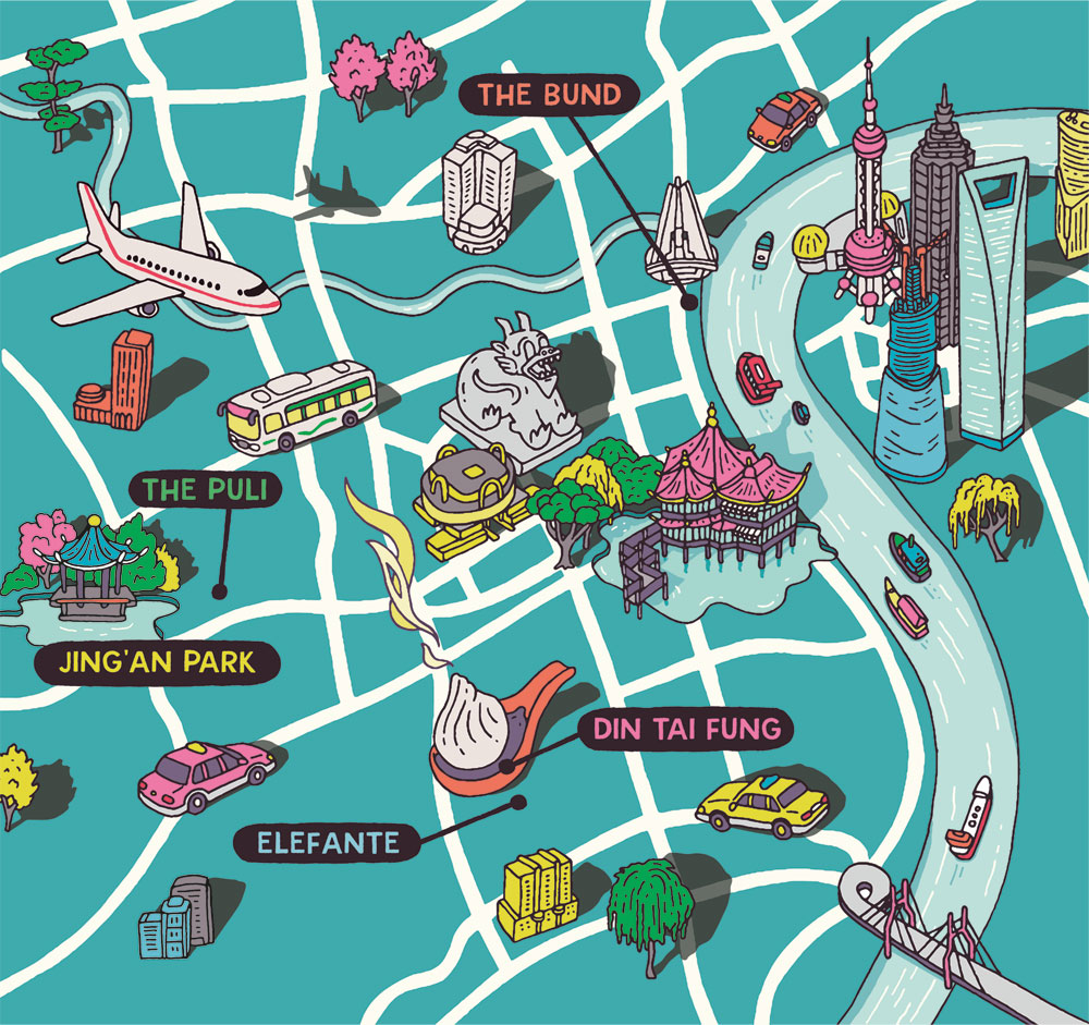Esquire Travel Shanghai Map