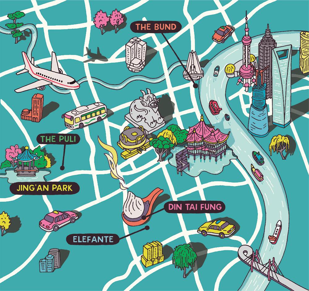 Esquire Travel Shanghai Map