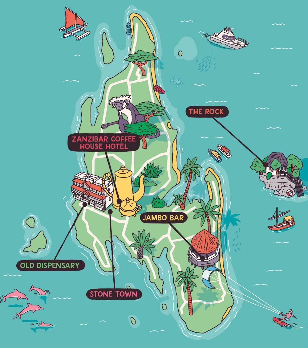 Esquire Travel Zanzibar Map