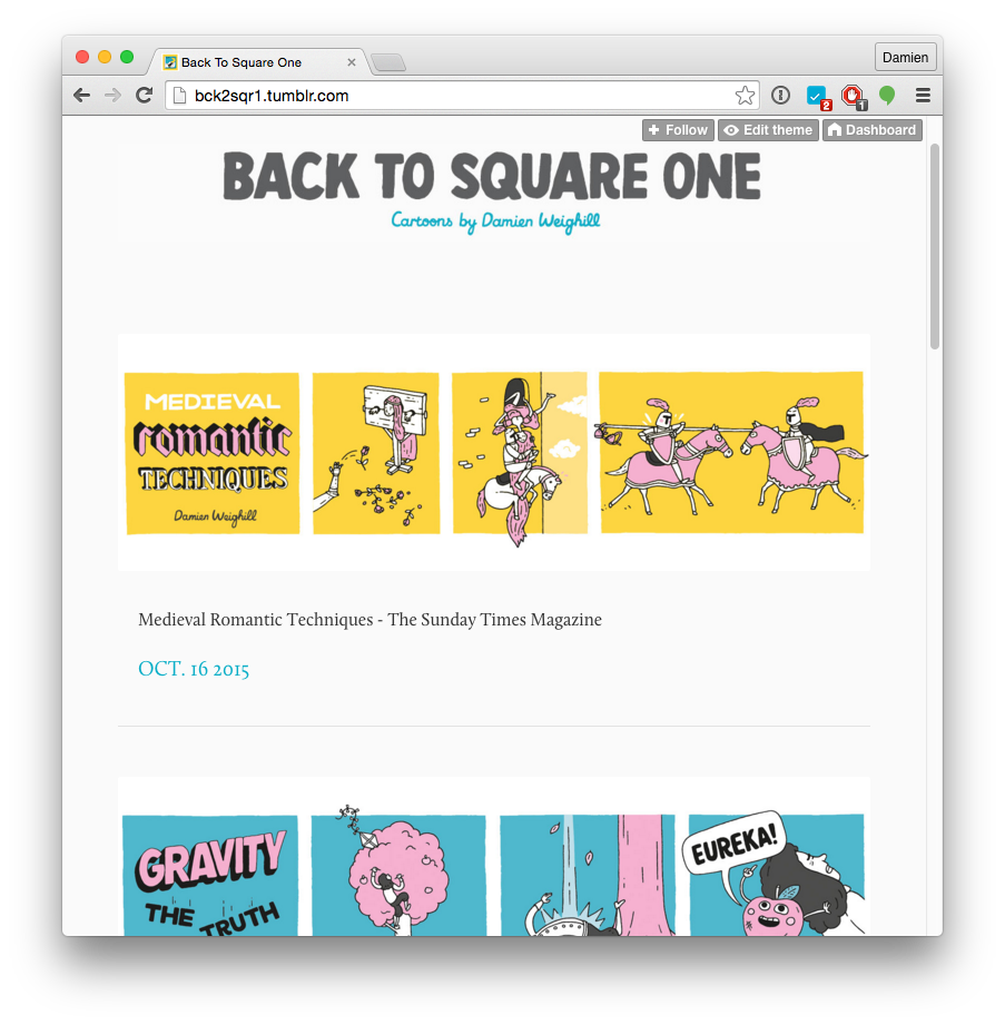 Back To Square One - The Sunday Times Magazine Comic Strips
